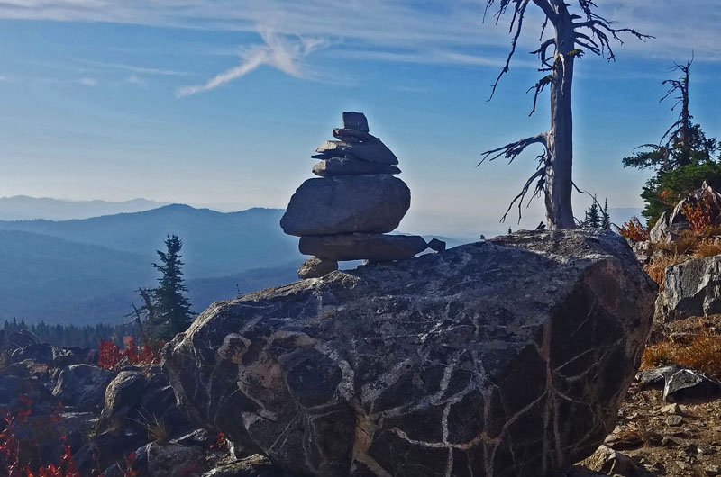 mountain cairn