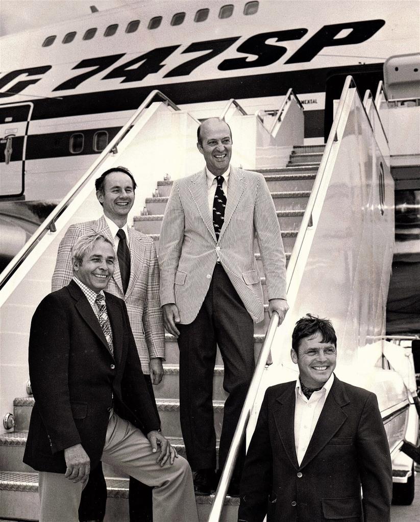 747SP first flight crew
