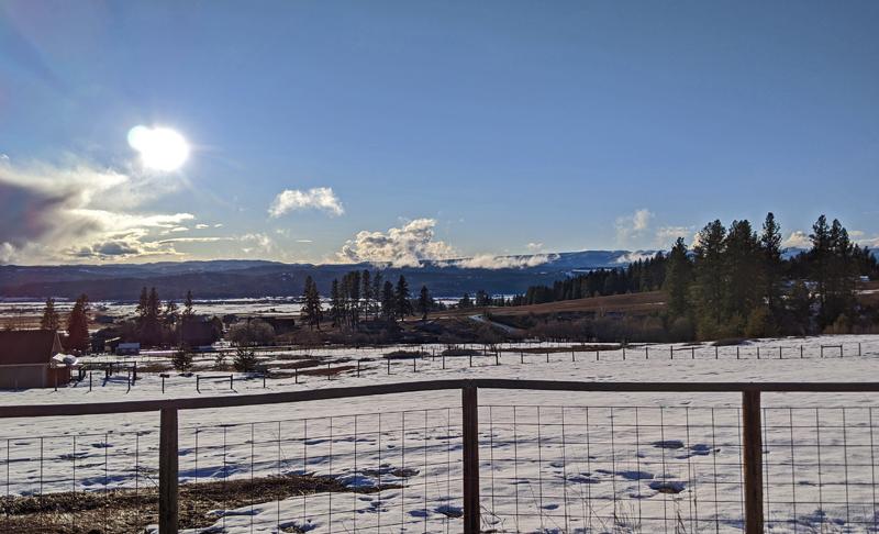 sun, snow, valley
